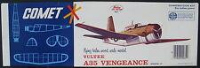 "COMET 3405 - VULTEE A35 VENGEANCE - 20"" - Balsa Holz Flugzeug Modellbausatz -Kit"