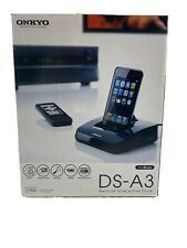 New APPLE IPOD Onkyo DS-A3 Remote Interactive Dock Station W/Remote Discontinued