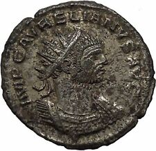 AURELIAN receiving wreath from woman 275AD Rare Ancient Roman Coin i46340