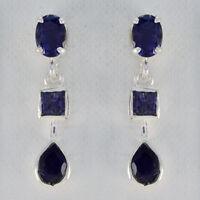 famous Iolite 925 Sterling Silber Blau Natürliche Edelsteine DE Geschenk