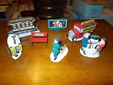 1992 Coca Cola Christmas Town Square Figures New in Box