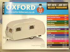 Oxford Diecast 48 página Catálogo De Bolsillo programa de octubre de 2016 a enero de 2017