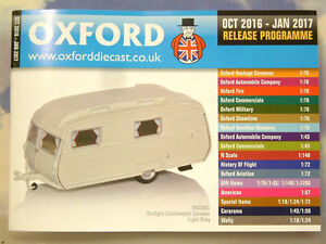 OXFORD DIECAST 48 PAGE POCKET CATALOGUE OCTOBER 2016 TO JANUARY 2017 PROGRAMME