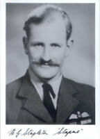 SPBB41 RAF photo signed Battle of Britain WWII WW2 Fighter Ace STAPLETON