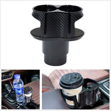 Carbon Fiber Pattern Car Cup Holder Drinking Bottle Holder Stowing Tidying Box