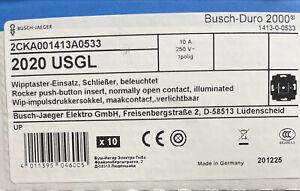 Busch Jäger Reflex SI Steckdosen Schalter Rahmen Wippe Alpinweiß B&J 2020 USGL.