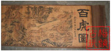 Chinese Ancient picture silk paper Hundred Tigers Scroll painting