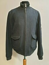 A697 MENS BEN SHERMAN GREY SQUARE POCKET BOMBER WOOL JACKET LARGE L EU 52