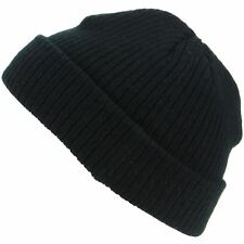 Mini Beanie Hat Fishermans Cap Mens Womens Black Maroon Blue Winter Warm