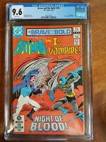 BRAVE AND THE BOLD # 195 DC COMICS  CGC GRADED 9.6 BATMAN I..VAMPIRE