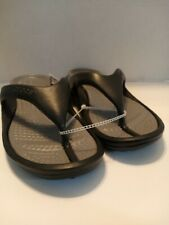 NWT CROCS Unisex Athens Flip Flops Size Mens 10 / Women 12  Black / Smoke Color