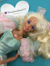 1992 Barbie Birthday Party Doll - Ruffles Gown- Stand - Shoes