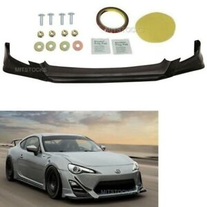 Fits 13-16 Scion FR-S FRS RS Style ADD-ON Front Bumper Lip Spoiler Body Kit PU