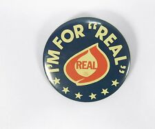 """Vintage  I'm For Real Dairy Products  Pinback Button 2 1/4"""""""