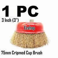 """for 4-1//2/"""" 2 Wire Cup Brush Wheel 3/"""" 75mm 115mm Angle Grinder Crimped Cup"""