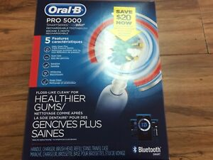 NEW Oral-B Pro 5000 Smart Series Bluetooth Rechargeable Toothbrush D36.515.5X