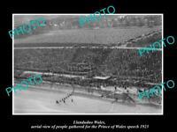 OLD POSTCARD SIZE PHOTO OF LLANDUDNO WALES THE PRINCE'S SPEECH c1923