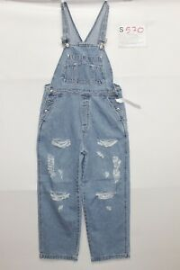 Salopette Gap (Cod.S570) TAILLE S Jeans Court Used Vintage Customized Original