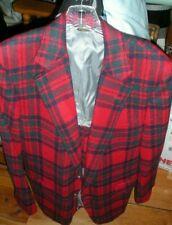 Men's Vintage Corbin Red Plaid Wool Sports Jacket