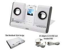 priceNaxa NAS-3002 Portable Foldable Speaker System MP3 White NX-3002 Brabd New
