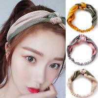 Women Elegant Soft Headband Cross Knot Elastic Bands Hairband Hair Accessori Dz