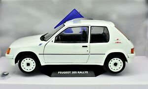 Model Car Scale 1:18 Peugeot 205 Rally Rallye diecast Car Model Solido New