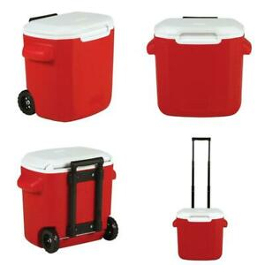 Coleman 16-Quart Performance Cooler With Wheels, Red