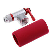 Alloy CO2 Bicycle Cartridge Tire Pump Presta Schrader Tyre Inflator Red