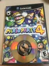 MARIO PARTY 4 NINTENDO GAMECUBE 2002 BLACK LABEL COMPLETE + MANUAL (TESTED)