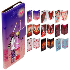 For Sony Xperia Series Valentine Love Theme Print Wallet Mobile Phone Case Cover