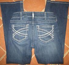 Ariat Women Sz 31S Boot Jeans Mid Whipstitch Ocean REAL Stretch Denim 31 x 31