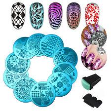 10 Set Nail Art Stamping Plates Design Kit Stamp Scraper Image Template Printing