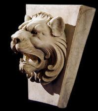 Roman Key Lion Head Overdoor Keystone Block Sculpture Plaque Wall Relief
