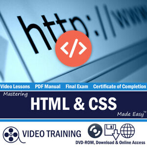 Learn HTML5 and CSS3 Video Training Tutorial DVD-ROM Course Intro HTML and CSS