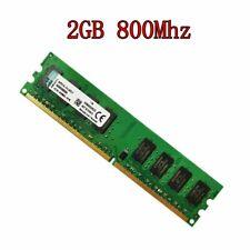 For Kingston 2GB DDR2 800MHz PC2-6400 240Pin CL6 Desktop Memory KVR800D2N6/2G