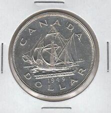 CANADA 1949 Silver Dollar GEORGE VI / Newfoundland Canadian Silver $1 Coin