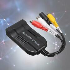 1pc 1080P AV & S-Video To HDMI Audio Adapters Converter + USB Cable For HDMI KJ