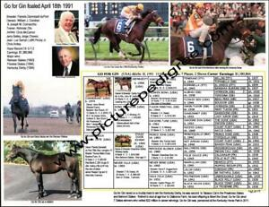 Horse Racing Go for Gin Kentucky Derby  picture photo pedigree Chris McCarron