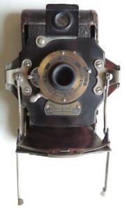 No. 1A Folding Pocket Kodak Photo Camera Red Maroon Bellows Antique Ca 1899-1915