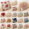 18inch Pink Romantic Cotton Linen pillow case throw sofa cushion cover Decor