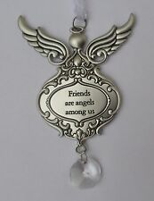 dd Friends are angels among us GUARDIAN ANGEL ORNAMENT prism ganz car charm