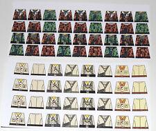 Custom 68 stickers german soldiers  WW2 GERMAN CAMO & AK - SIZE - lego torso