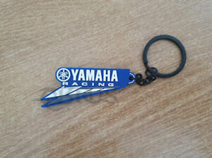 Genuine Yamaha 20 Paddock Blue Rubber Race Speedblock Keyring