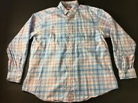 Vineyard Vines Mens Blue Plaid Button Front Murray Shirt Size Large