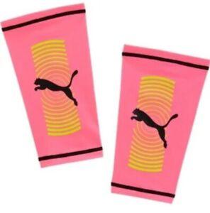 PUMA Shin Guard Sleeve Soccer Sock Men Women Large Pink Compression Spin 96