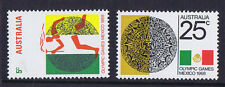 Australian Decimal Stamps 1968 Mexico Olympics Set of 2 MNH. 5 cent and 25 cent