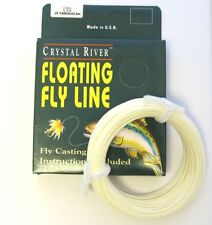 slick finish Lt Green 85/' LN434 FLY LINE Weight Forward Floating 7WT Loop end