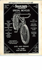 1935 Paper Ad Shapleigh Bicycle Balloon Tires Hunting Gear Knife Duck Decoy ++
