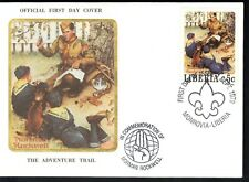 "Liberia 1979 Norman Rockwell Scouting ""THE ADVENTURE TRAIL"" SC # 853-857 FDC"
