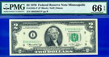 *FR-1935 1976 $2 FRN (( KEY-STAR )) ** MINNEAPOLIS ** PMG-66-EPQ # I00358013*